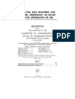 HOUSE HEARING, 110TH CONGRESS - AGRICULTURE, RURAL DEVELOPMENT, FOOD AND DRUG ADMINISTRATION, AND RELATED AGENCIES APPROPRIATIONS FOR 2009
