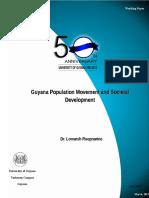 Guyana Population Movement and Societal Development 2
