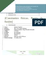 5. Constantes Físicas. Punto de Fusión