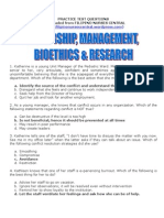 Leadership,Management,Bioethics Research