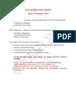 Tugas Hukuman 29-9-2015