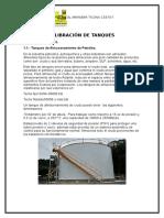 Calibración de Tanques Informe
