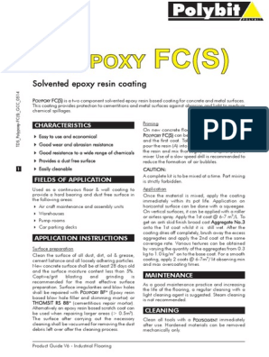 Polypoxy Fc(s) | Epoxy | Concrete
