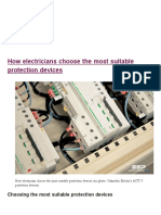 Choose the Most Suitable Electrical Protection Devices