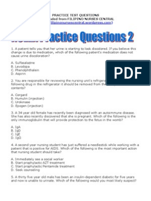 NCLEX Practice Questions 2 | Red Blood Cell | Meningitis