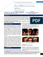 Treatment of Class II Malocclusion Using Twin Block Appliance