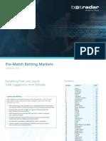 Betradar Pre-match Betting Markets