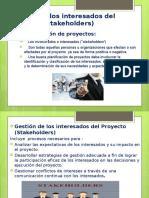 Gestión de Los Interesados Del Proyecto (Stakeholders)