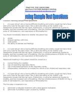 Pediatric Nursing Sample Test Questions