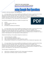 Pediatric Nursing Sample Test Questions