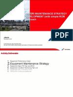 Maintenance Strategy Development Activity Roll Out 020614