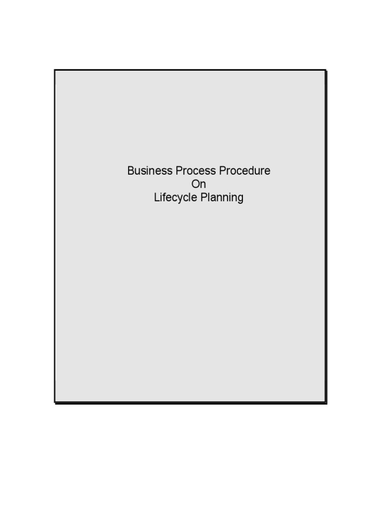 SAP APO DP Lifecycle Planning.doc | Forecasting | Product Lifecycle
