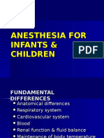 Anesthesia for Infants & Children