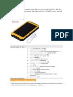 Nova 8000 Mah Carregador Solar Bateria Externa Do Telefone à Prova d
