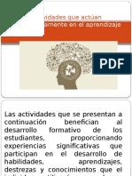 Actividades Que Actúan Significativamente en El Aprendizaje
