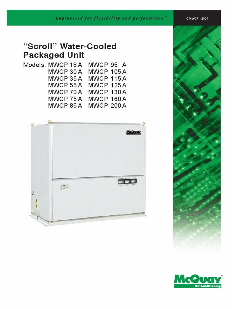 McQuay Water Cooled Package MWCP-2004.pdf | Air Conditioning | Duct ...