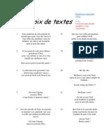 Choix de Textes