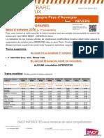 Info Trafic Paris Bercy - Nevers