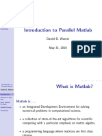 Introduction to Parallel Matlab