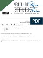 El Problema de La Burocracia __ Instituto Mises