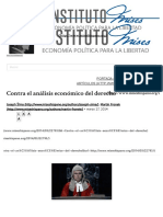 Contra El Análisis Económico Del Derecho __ Instituto Mises