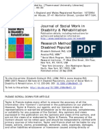 Research Methods With Disabled Populations