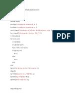 Código en Matlab Método de Biseccion
