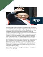 Paniagua y El Gobierno de Transición