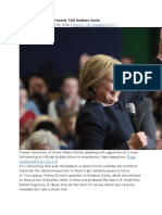 3 What Hillary Clinton Privately Told Goldman Sachs