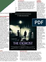 Exorcist Poster Analysis