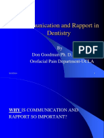 Communication and Rapport in Dentistry