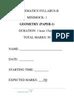 Geometry Paper 1