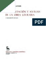 Kayser, Wolfgan - Interpretacion y Analisis de La Obra Literaria.pdf