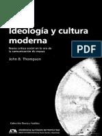Thompson - Ideologia y Cultura Moderna