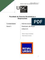 Análisis económico financiero de la empresa REYAL URBIS,S.A. (1)