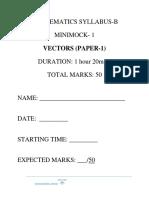 Vectors Paper 1