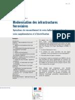 1018w Modernisation Des Infrastructures Ferroviaires