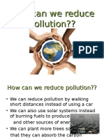How can we reduce Pollution