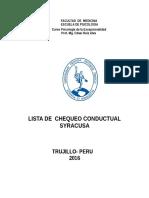 Lista Chequeo Conductual Syracusa