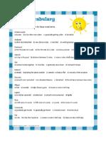Summer Music Vocabulary