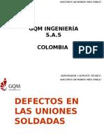 Defectos en Las Uniones Soldadas