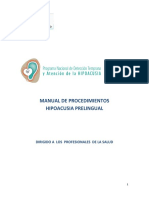 Manual de Procedimientos Diagnosticos en Hipoacusia