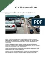 Malaysian Road Traffic