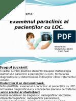 LOC - Examen Paraclinic
