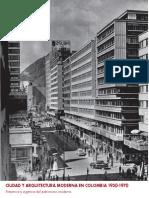 Ciudad y Arquitectura Moderna en Colombia 1950 1970