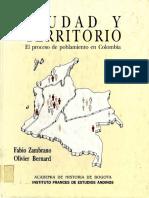 Ciudad Territorio Proceso Zambrano F 1993