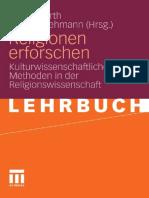 Stefan Kurth, Karsten Lehmann Religionen Erforschen Kulturwissenschaftliche Methoden in Der Religionswissenschaft