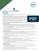 Latitude e6220 Spec Sheet