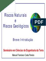 Riscos Naturais e Geológicos