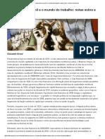 Neoliberalismo Senil e o Mundo Do Trabalho_ Notas Sobre a Miséria Brasileira